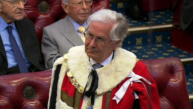 Sir Mervyn King is introduced into the House of Lords