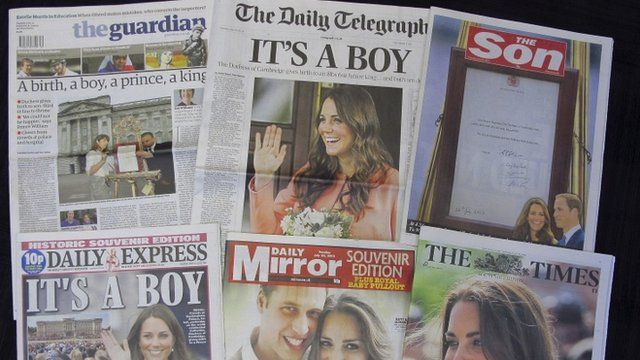 Special edition newspapers