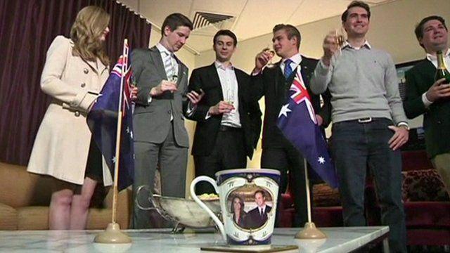 Australians toast new royal baby
