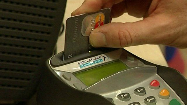 Card in payment machine
