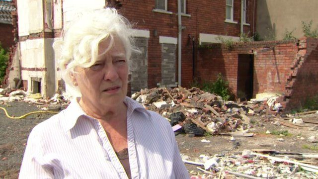 Louisa Blackburn speaks to BBC Newsline about the problems of living in a demolition zone
