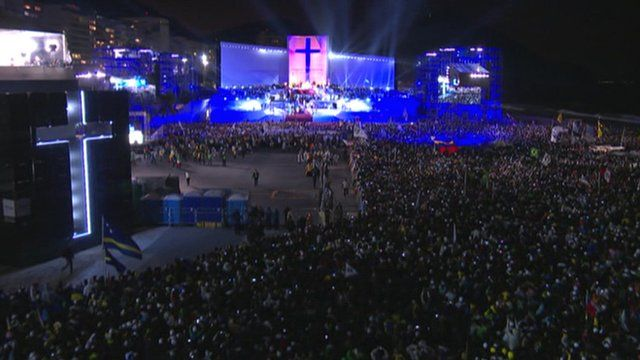 Pope at Copacaban beach event