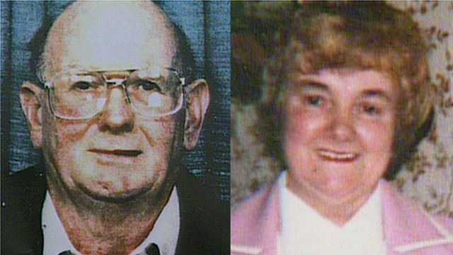 Harry and Megan Tooze, killed at their farmhouse home in Llanharry in July 1993