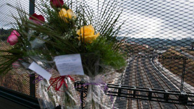 Scene of train crash