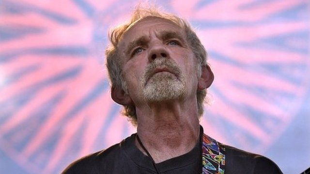 Singer-songwriter JJ Cale plays on stage during the Eric Clapton Crossroads Guitar Festival on 5 June 2004, in Dallas.