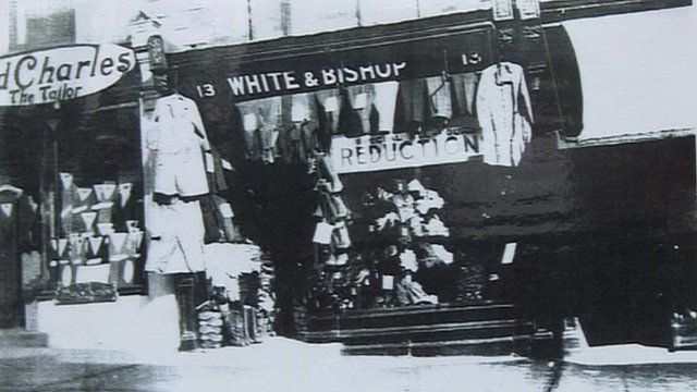 White and Bishop shop front