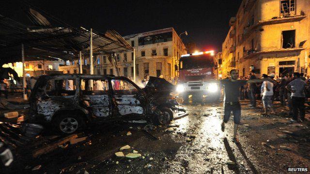 Blast site in Benghazi