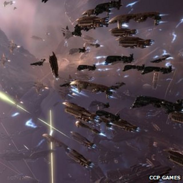 Eve players stage giant online space battle