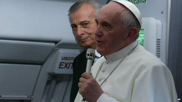 Pope Francis flew back to Italy after a week long visit in Brazil