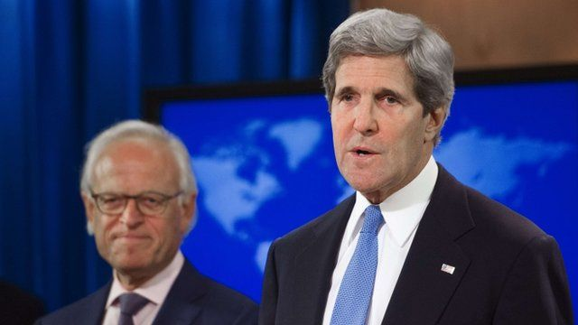 John Kerry announcing that Martin Indyk will head Israeli-Palestinian peace talks