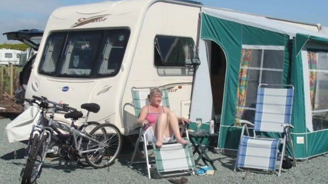 The caravan was found on a travellers site in Hampshire