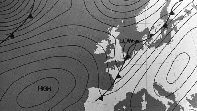 1960's BBC weather map
