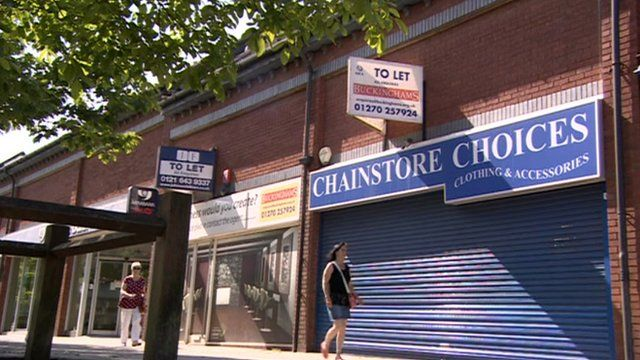 Vacant shops on local high street