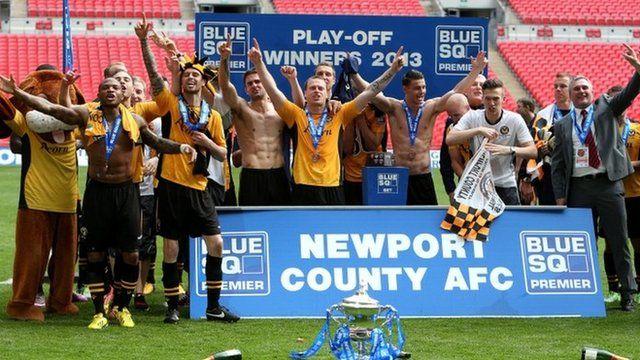 Newport County won the play-off final at Wembley in May