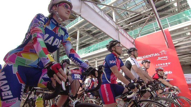 Cyclists set off on 100-mile London event
