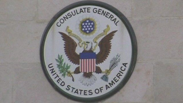 "A sign saying ""Consulate General United States of America"""