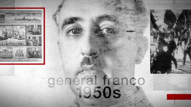 Graphic shows General Franco