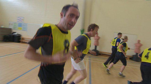 Tom Symonds tries the fitness test
