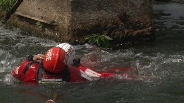 River rescue training