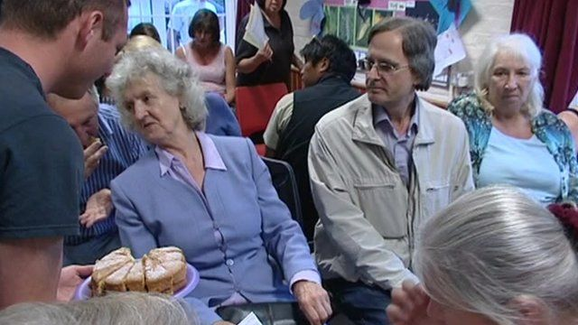 Villagers at Balcombe meeting