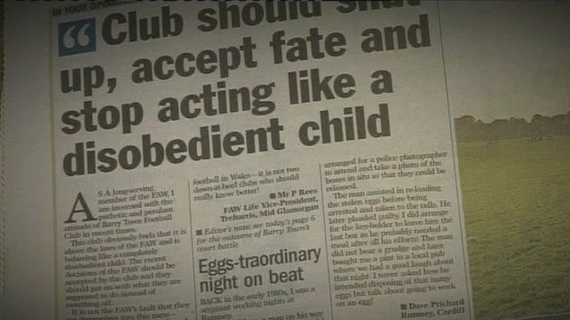 The letter appeared in the South Wales Echo