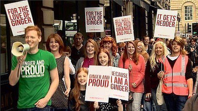 Marchers on Ginger Pride Walk