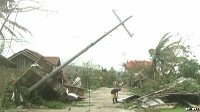 Damage caused by the typhoon