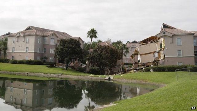 Sinkhole opens under Florida resort complex
