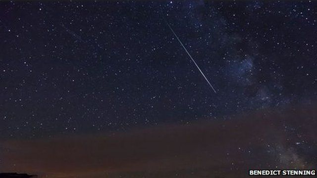 This picture of a Perseid meteor was captured in Newhaven, East Sussex