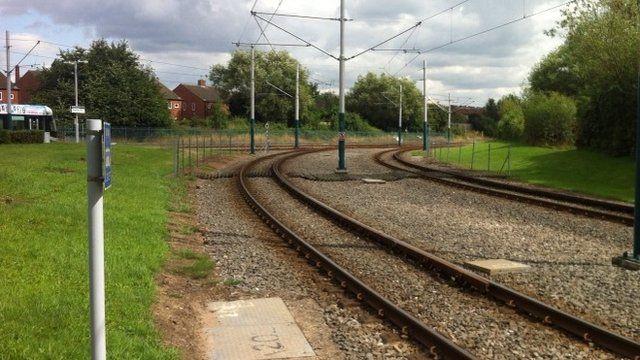 Tramlines in Highbury Vale