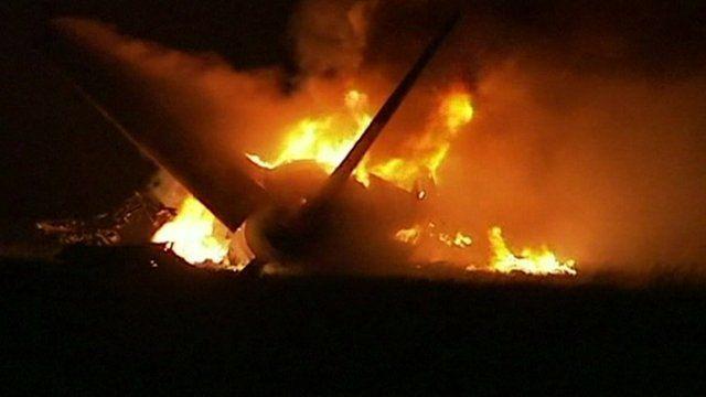 Cargo plane on fire after crash in Birmingham, Alabama