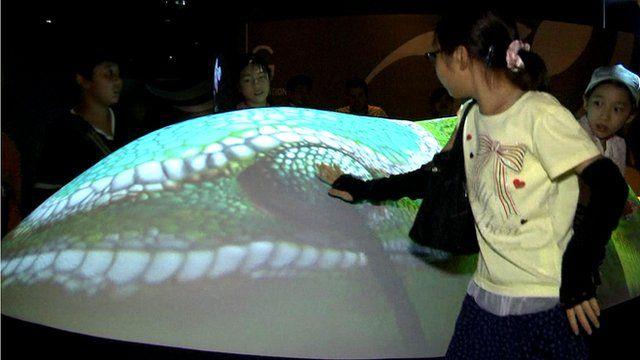 An exhibit at Orbi Yokohama in Japan