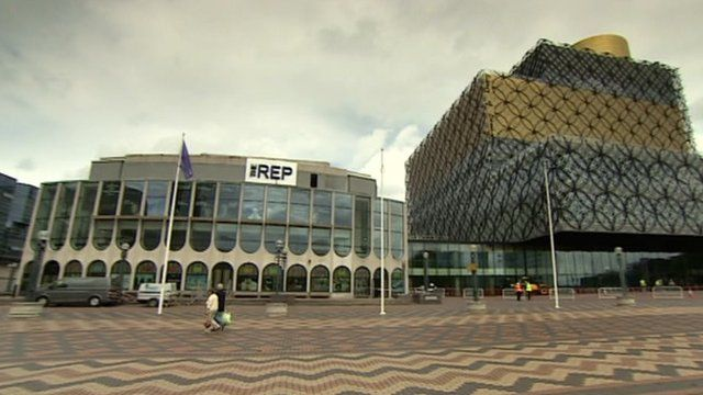 An outside view of The REP and new Birmingham library
