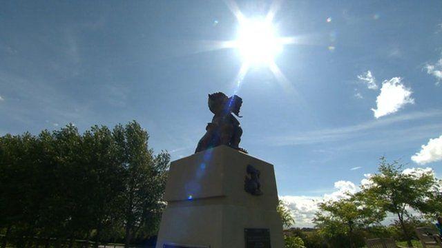 Arboretum Chindits statue