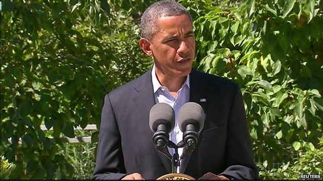 President Obama condemned the violence in Egypt