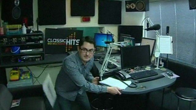 Staff at a Wellington radio station took cover under their desks
