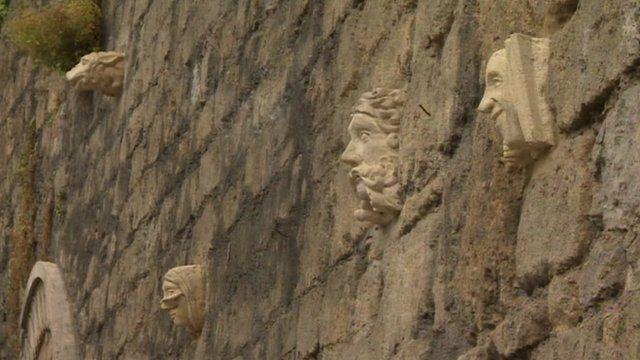Stone faces in Bath