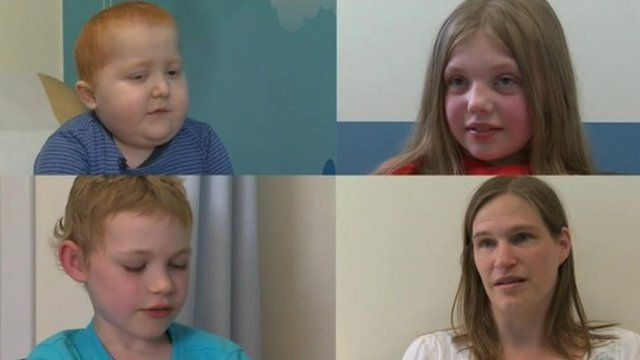 A composite image of the children who have had a transplant and one mother