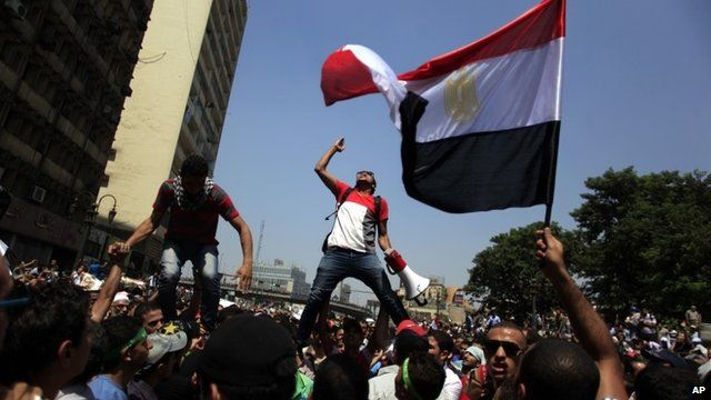 Pro-Morsi supporters in Cairo