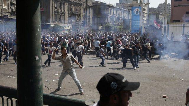 Protesters in Ramses Square