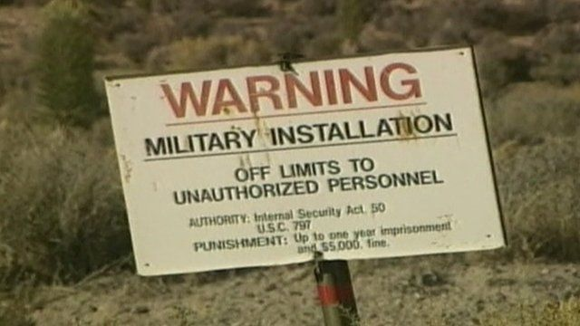 'Off-limits' sign from Area 51