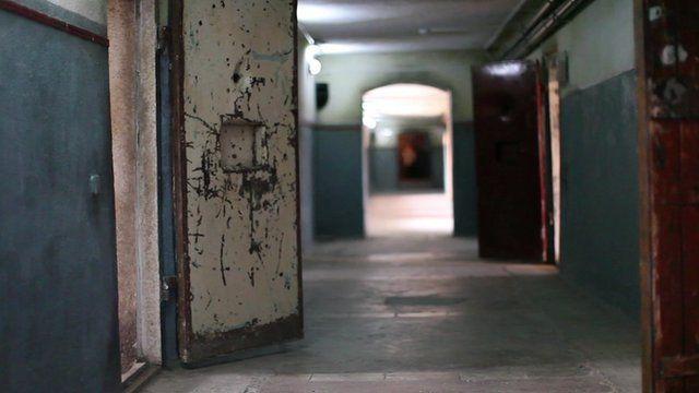 Inside a former prison
