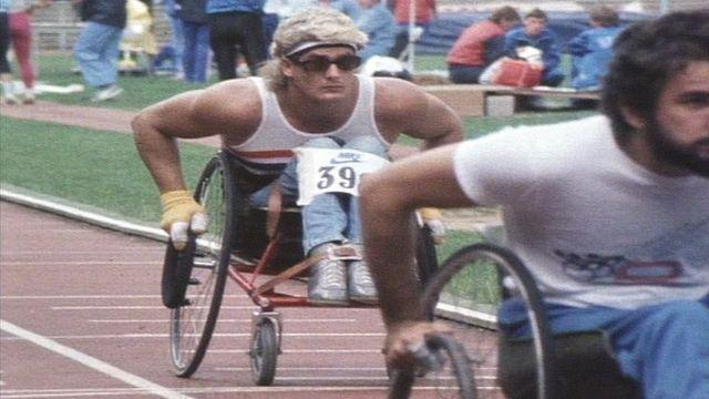 Chris Hallam competing