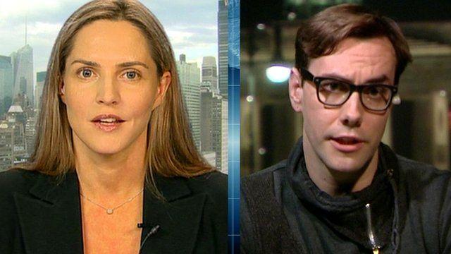 Former Conservative MP Louise Mensch and computer hacker Jacob Applebaum