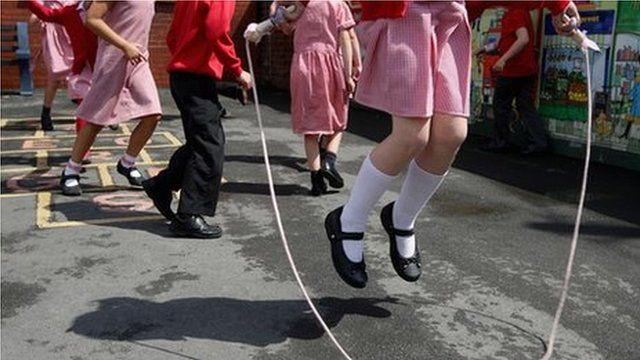 Pupils in a school playground (generic)