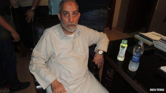Egypt crisis: Brotherhood condemns Mohammad Badie arrest
