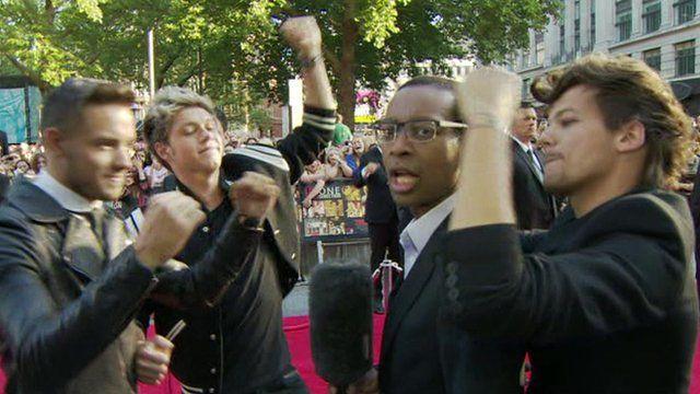Lizo Mzimba with One Direction