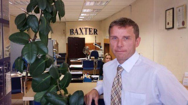 Estate agent Damien Baxter