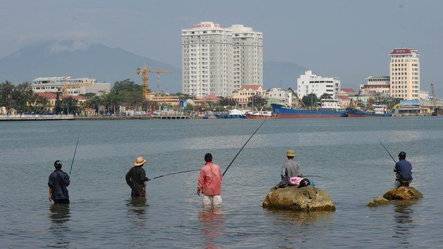 Fishermen in Da Nang