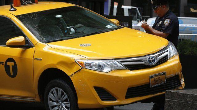 New York cab on pavement